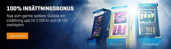 2000 kr casinobonus hos NordicBet