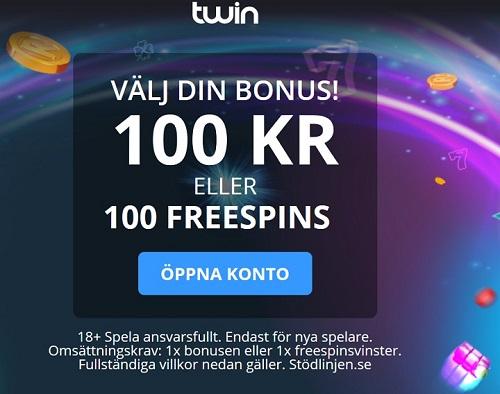 Casinobonusen hos Twin